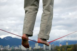 Walking on a String Balance