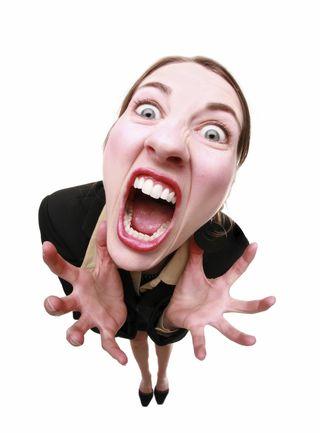 VERY Angry woman!