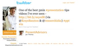 Twitter - Jon Thomas- One of the best 5min #pres ...